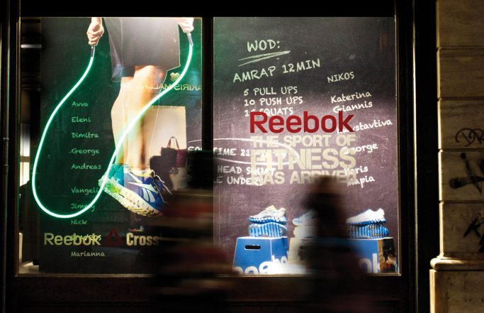 Reebok Window Display Fokas